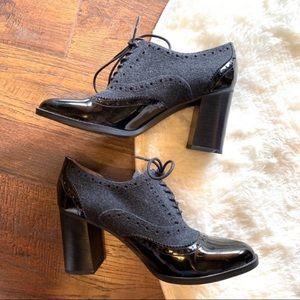 Franco Sarto bootie heel size 10 marigold pumps